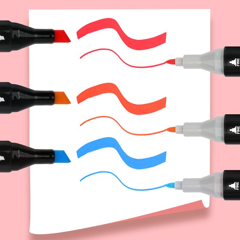 正品Touchmark马克笔小学生套装双头油性漫画水彩笔手绘设计美术绘图彩笔学生用肤色动漫绘画touch马克笔套装