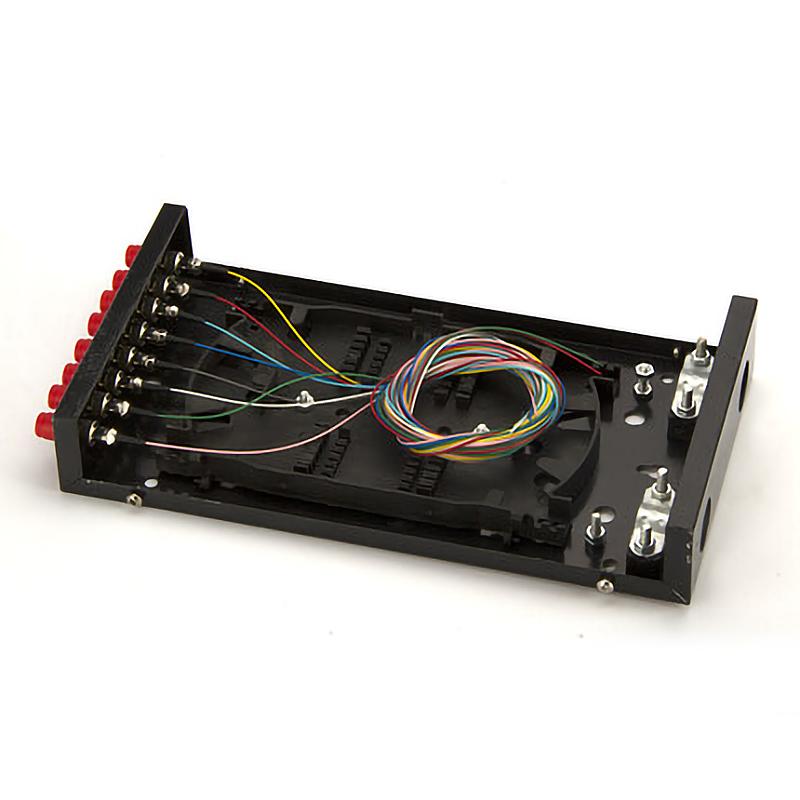 满配 光线盒熔接盒接续盒光缆接头盒含尾纤 光纤终端盒 FC 口 8 粤信