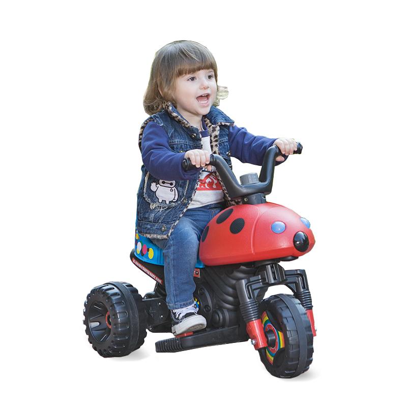 快乐牌儿童电动摩托车三轮车玩具车可坐1-6岁小孩男女宝宝电瓶车