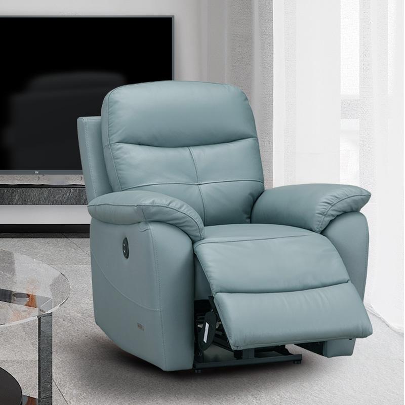 佐娜电动功能沙发躺椅单人等 真皮客厅头层牛皮懒人电动太空舱椅