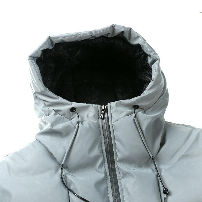 AMAPO潮牌大码男装胖子加肥加大码荧光变色加厚棉服冬季保暖外套