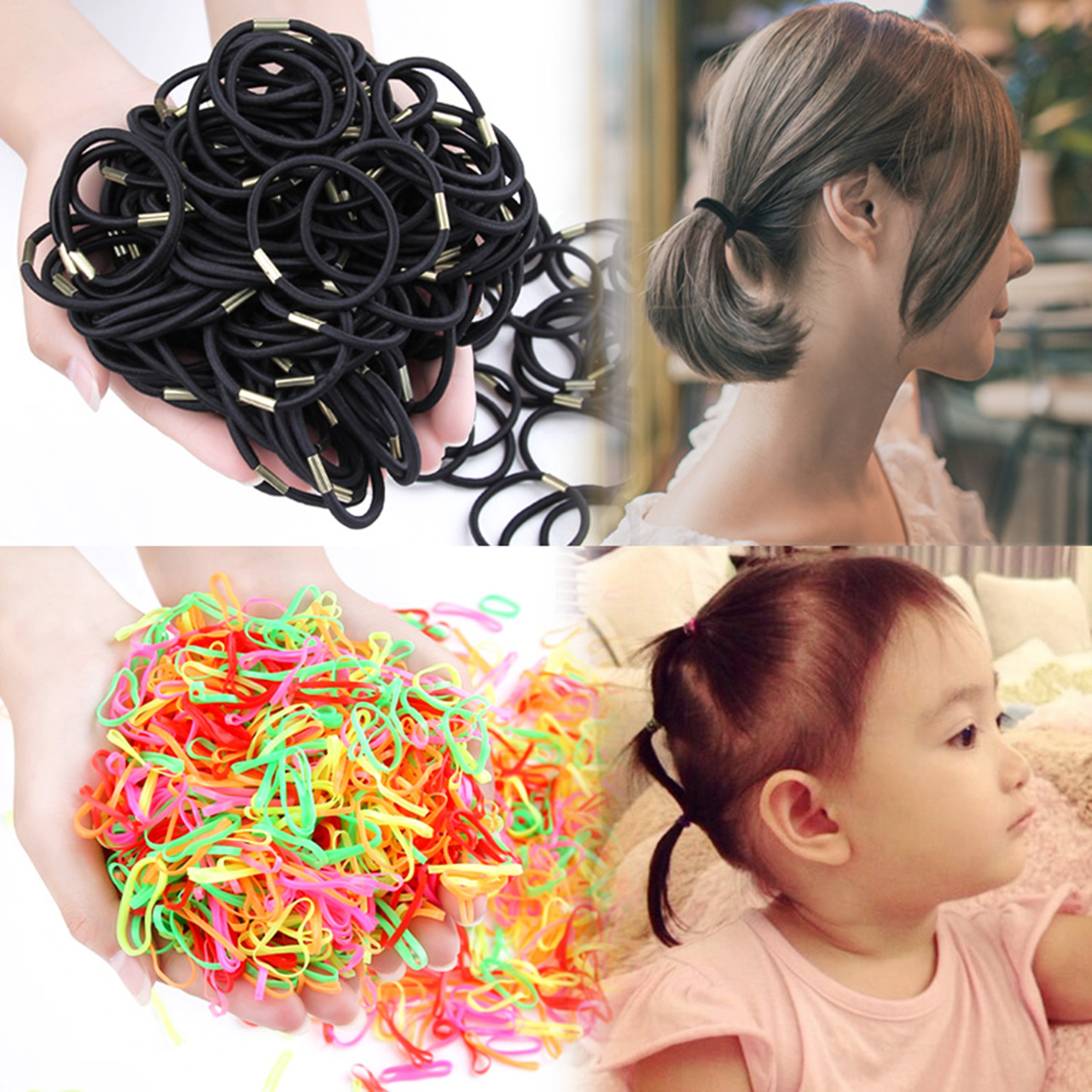 儿童橡皮筋小女孩扎头发女童发绳发夹头绳宝宝幼儿发圈发饰头饰女