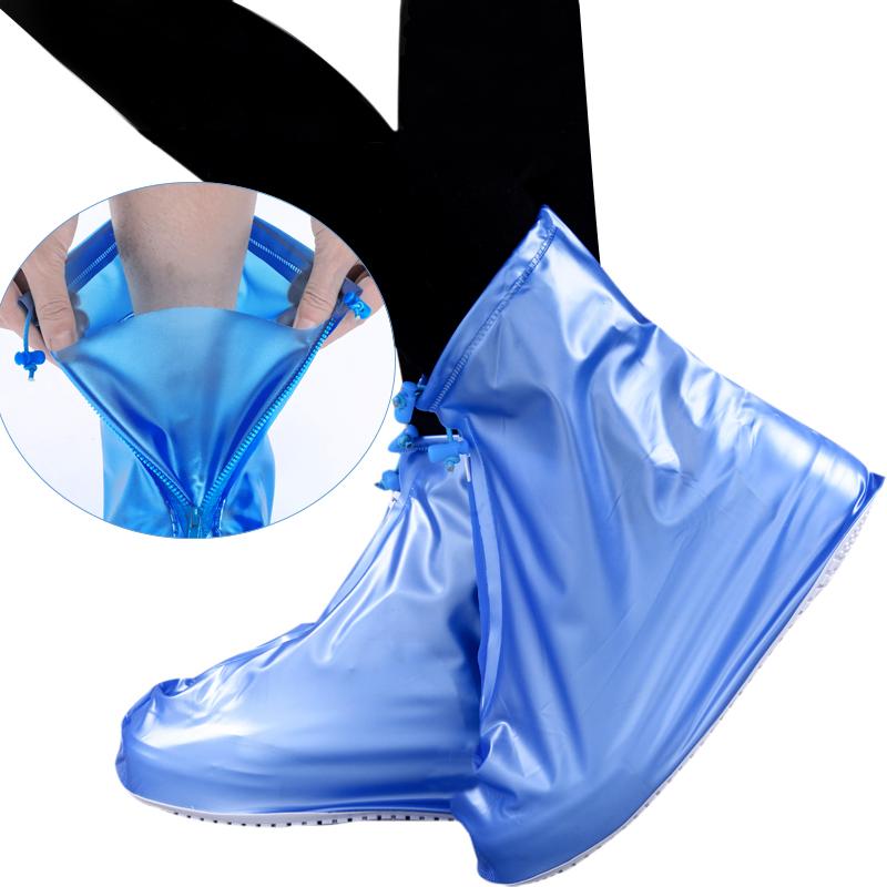 雨鞋套防水雨天男女防雨鞋套加厚防滑耐磨底成人脚套儿童下雨靴套