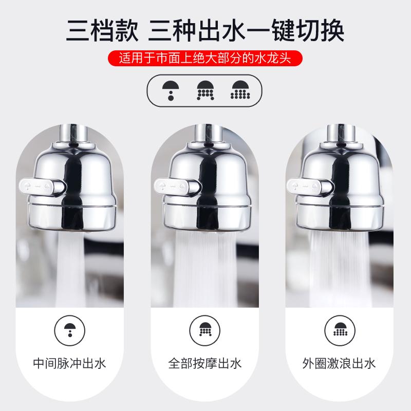 厨房水龙头防溅头嘴延伸器过滤器通用家用万能自来水花洒节水神器