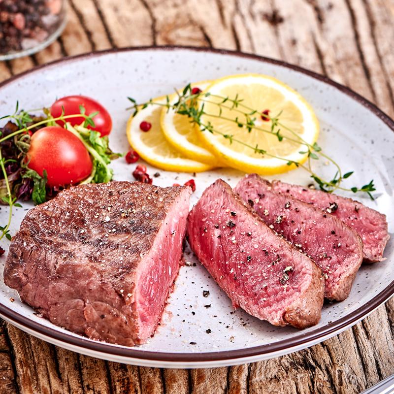 绝世澳洲菲力牛排套餐团购10片儿童单片原肉整切新鲜牛肉送黑椒酱