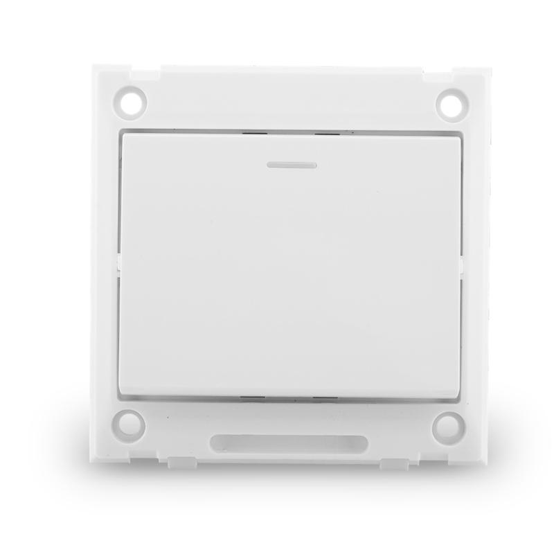 人民电工 墙壁开关插座 R86D经典雅白色  一开单控墙壁开关面板
