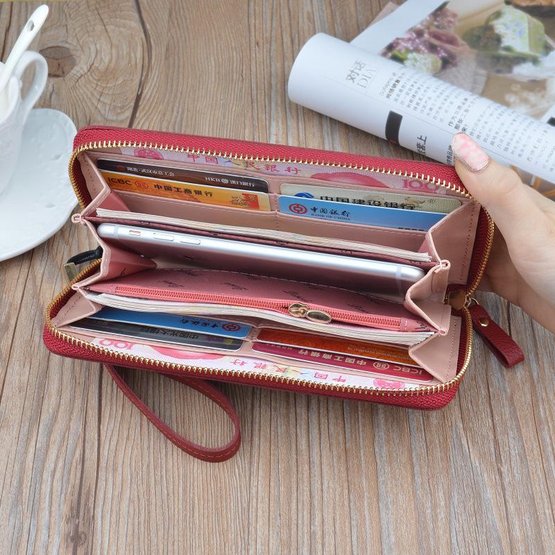 新款拉链多功能长款大容量皮夹手机包 2018 女士钱包女长款手拿包