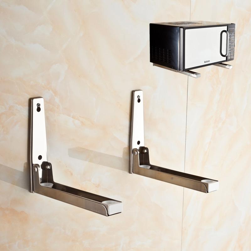 微波炉托架支架壁挂烤箱架子厨房置物架电器吊架不锈钢悬加厚挂架
