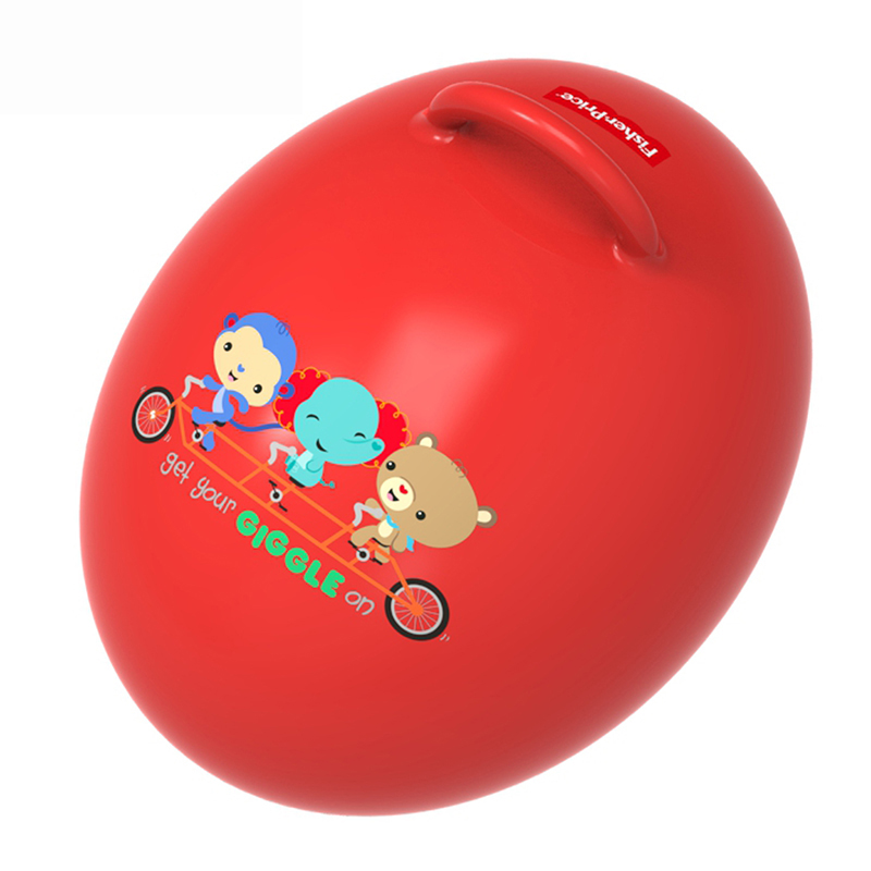 费雪蛋形球跳跳球羊角球跳跳马儿童充气玩具运动宝宝蹦蹦球