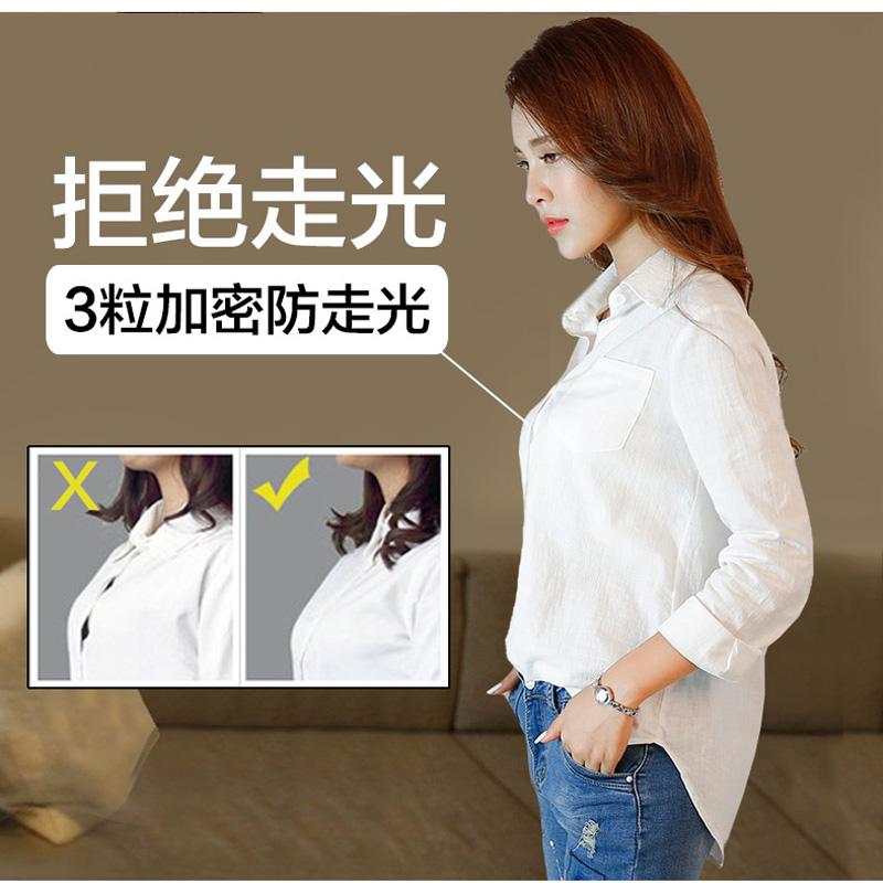 棉麻白色衬衫女2019新款宽松韩版很仙的衬衣上衣短袖设计感小众夏