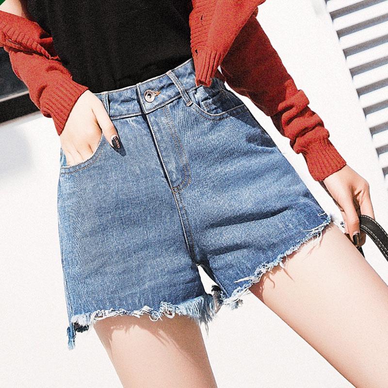 【南极人】高腰牛仔短裤热裤