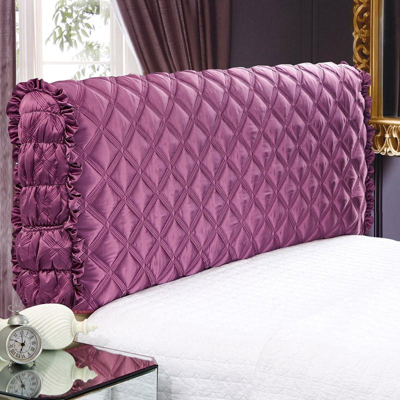 全包布艺床头罩软包床头套简约现代欧式皮床防尘罩1.8米床保护套