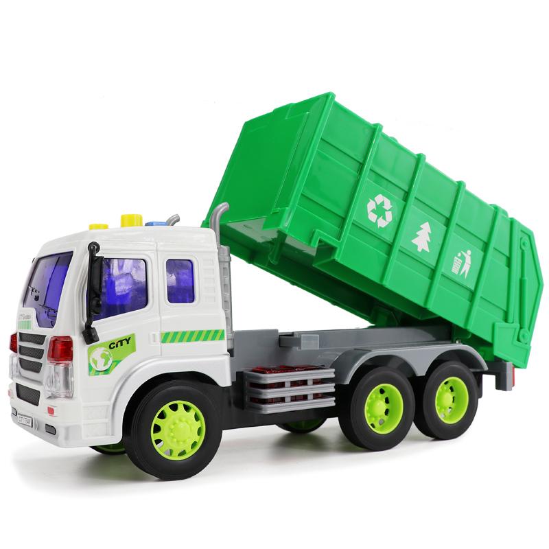 文艺新品儿童垃圾车玩具大号工程车惯性仿真洒水车带声光会讲故事