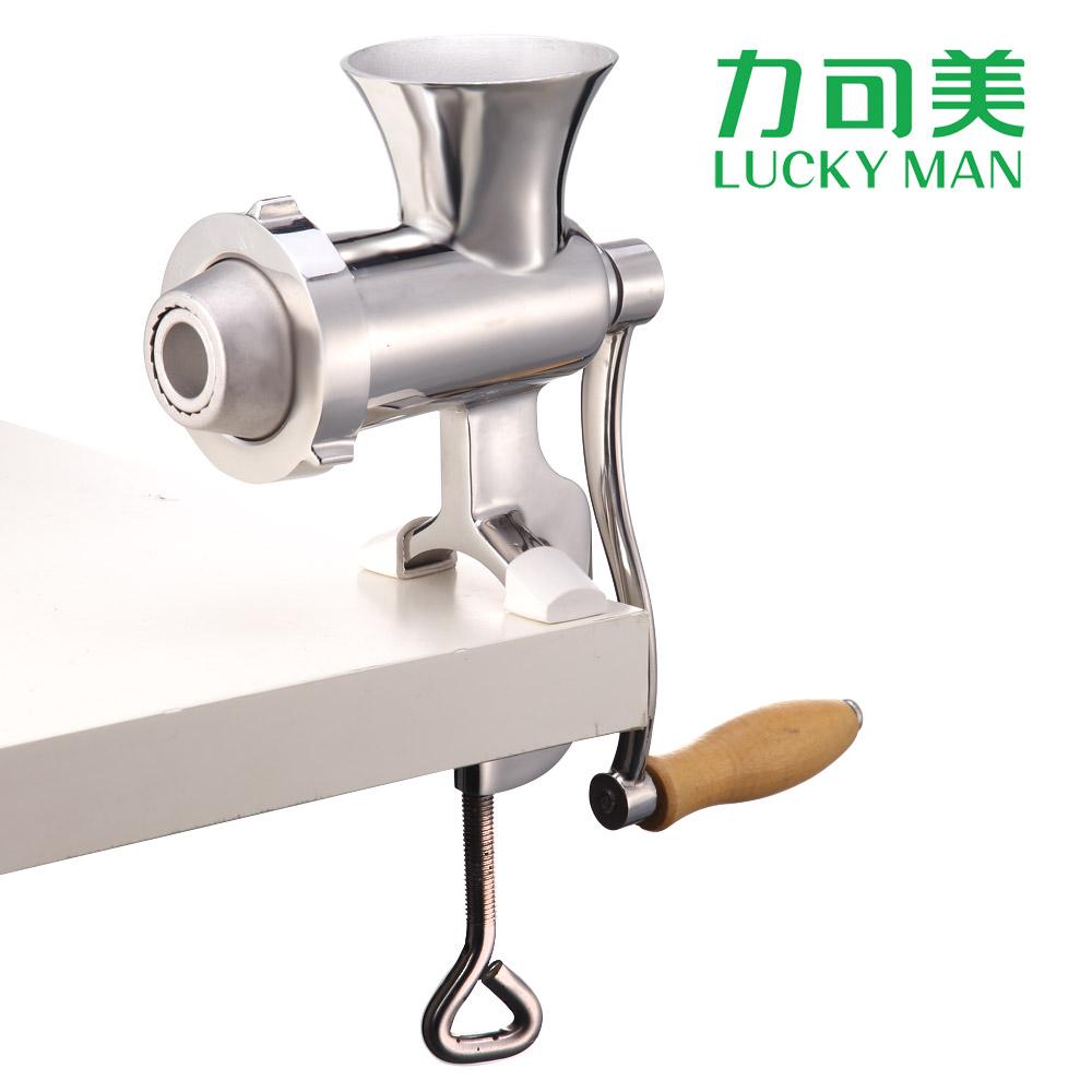 手动不锈钢绞肉机家用手摇碎肉绞馅磨粉器灌香肠多功能力可美JR08
