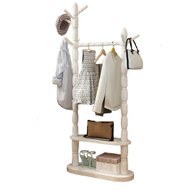 衣架落地实木衣帽架简约现代挂衣架卧室简易挂衣服架多功能置物架
