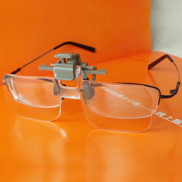 眼镜夹式放大镜高清亚克力镜片 可夹眼镜上 清晰阅读老人看报读书