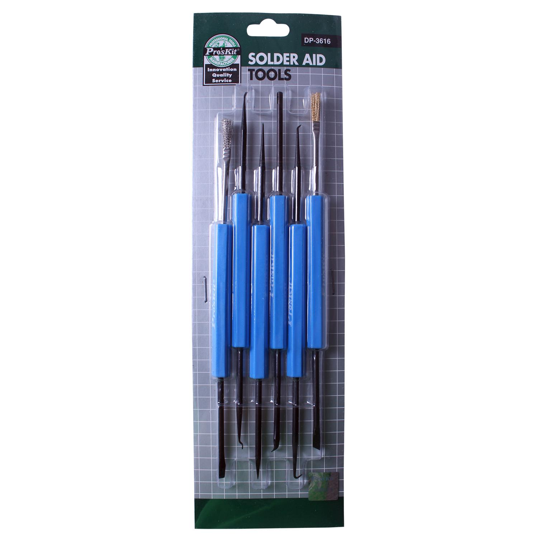 台湾宝工焊接辅助工具组套装(6支/12用)锡焊套件焊接工具DP-3616