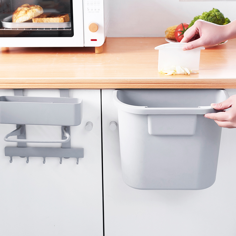 家用无盖厨房壁挂式垃圾桶加厚塑料橱柜大号收纳桶分类可挂垃圾桶