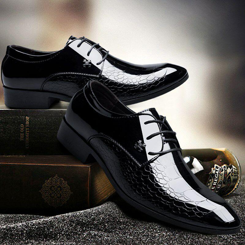 夏季男鞋休閒鞋英倫尖頭軟底韓版青年潮流鞋子男商務正裝鏤空皮鞋