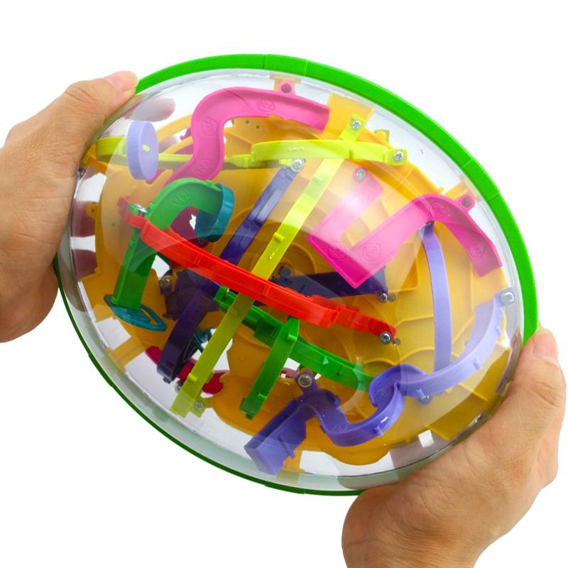 爱可优3d立体迷宫球299关魔幻智力球走珠专注力训练平衡益智玩具