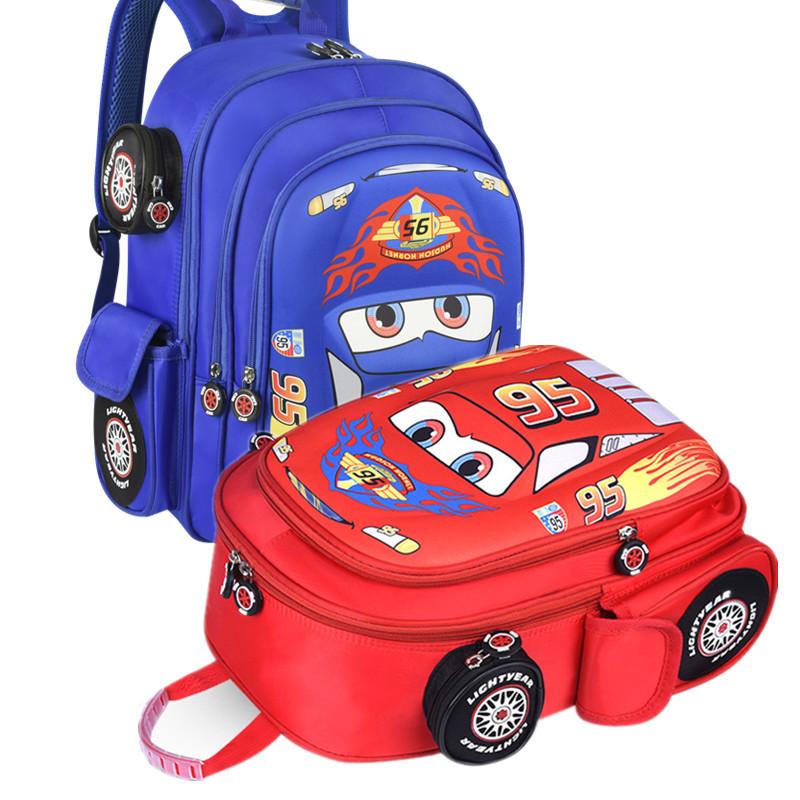 汽车儿童书包幼儿园宝宝韩版男童双肩包小学生1-3-4-6岁一二年级