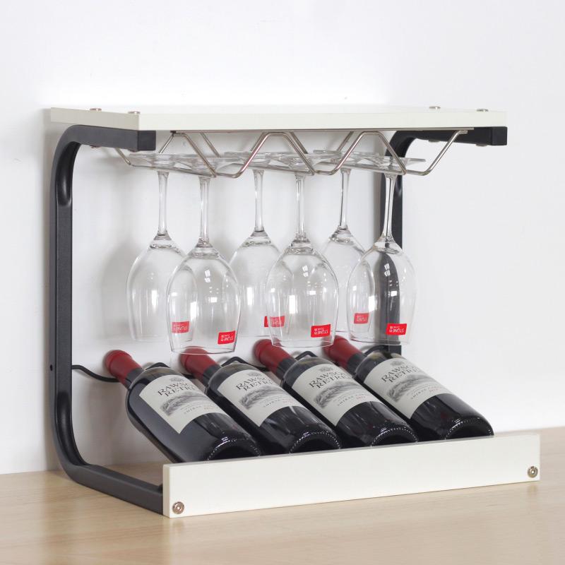 红酒架摆件高脚杯架倒挂家用 葡萄酒展示酒托实木创意现代简约