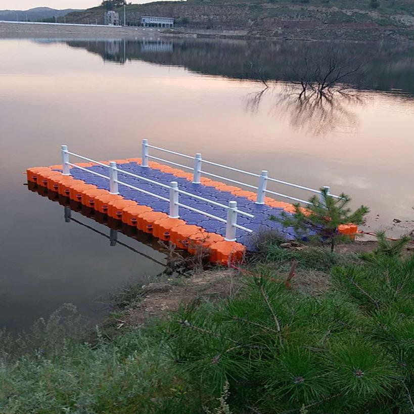 浮筒码头浮桥网箱钓鱼养殖栈道摩托艇游船艇泊位塑料浮桶水上平台