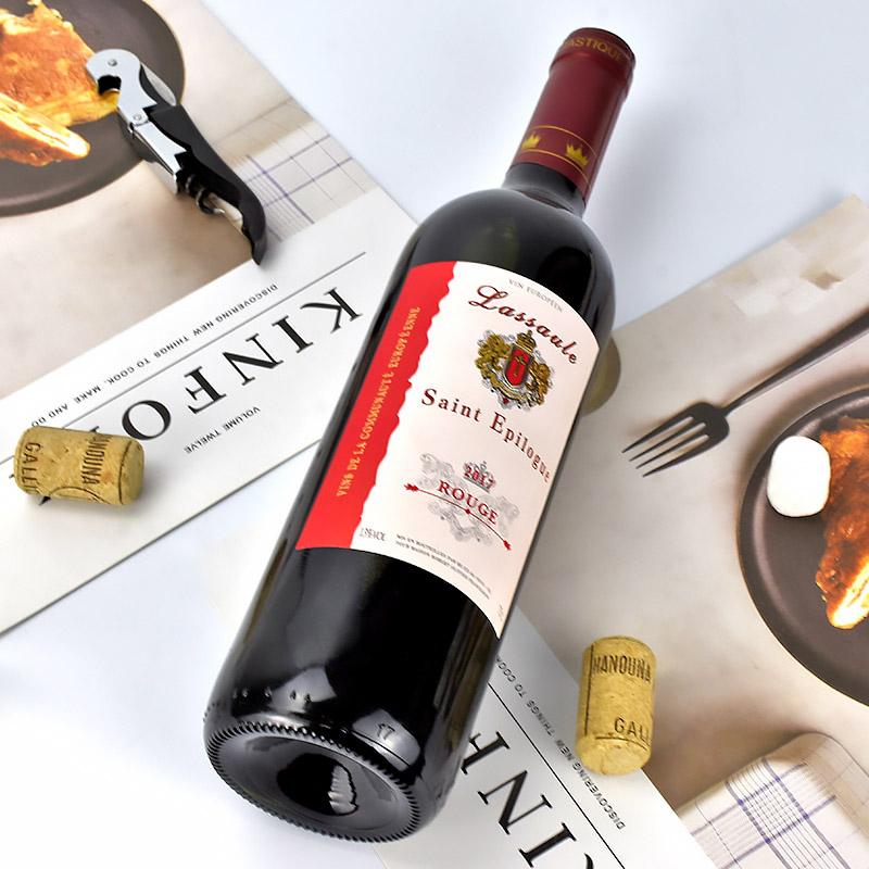 法国原瓶原装进口红酒拉撒圣爱比隆干红葡萄酒单支送开瓶器酒刀