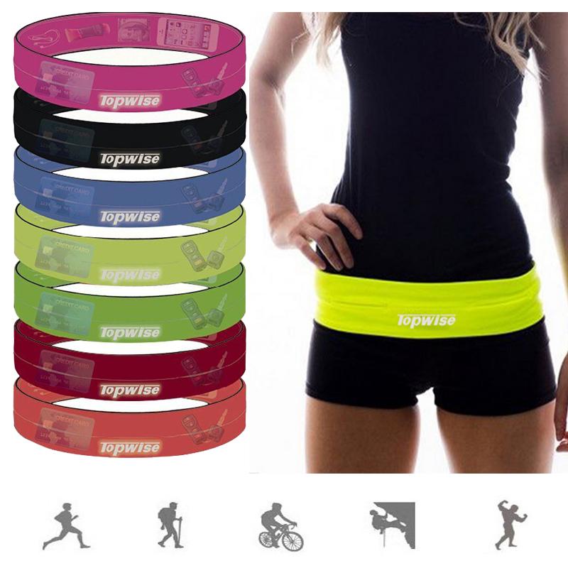 戶外男女彈性貼身透氣防盜零錢休閒夜跑健身跑步運動腰帶手機腰包