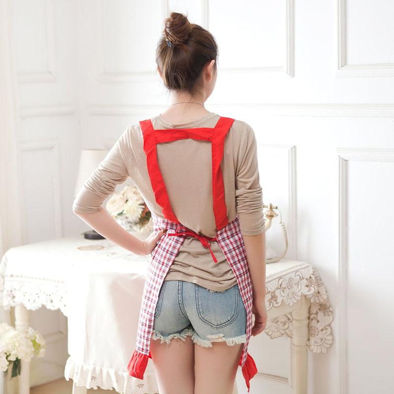 韩版时尚可爱围裙成人女厨房做饭防水罩衣长袖大人工作服可定制