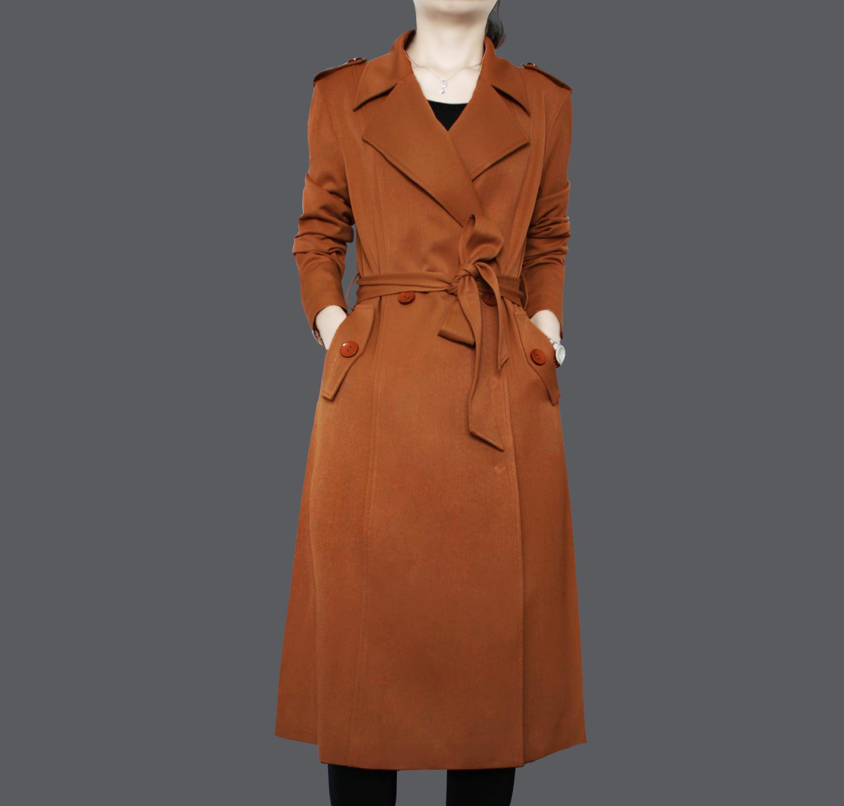2018春秋季新款女装风衣女士外套中长款黑色大码收腰显瘦休闲气质