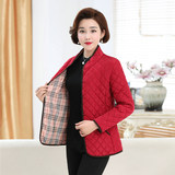 Middle-aged women's casual stand collar small cotton warm down cotton thin middle-aged mother dress padded jacket liner