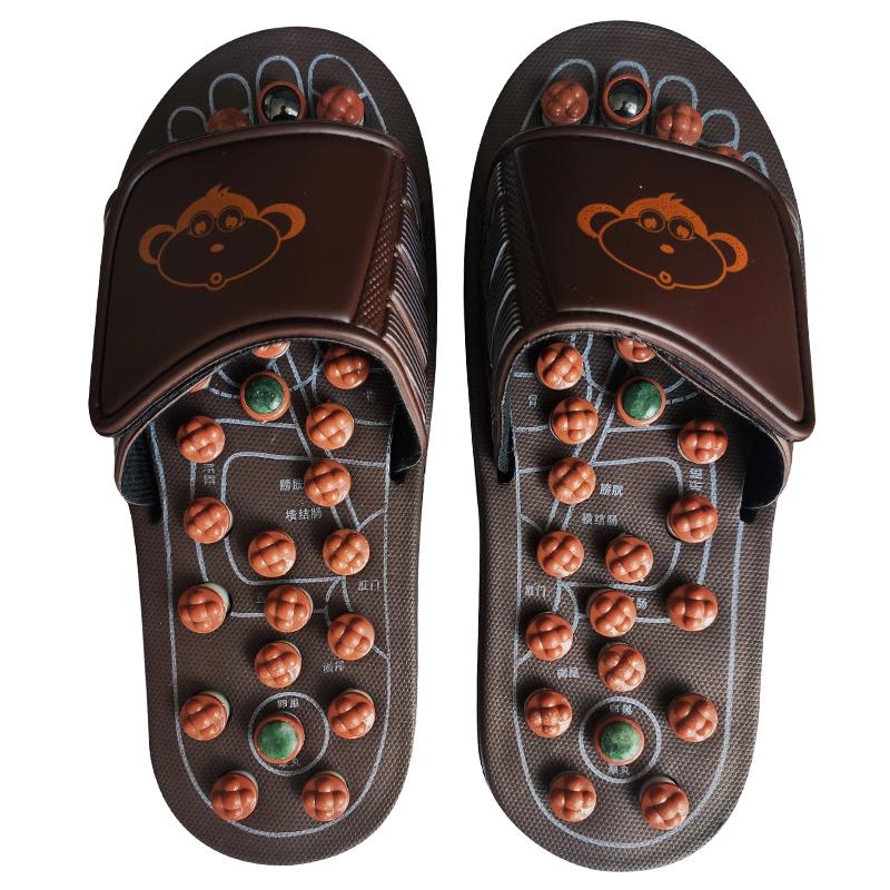 鹅卵石足底按摩垫家用雨花石头子路脚底指压板拖鞋穴位足疗器走毯