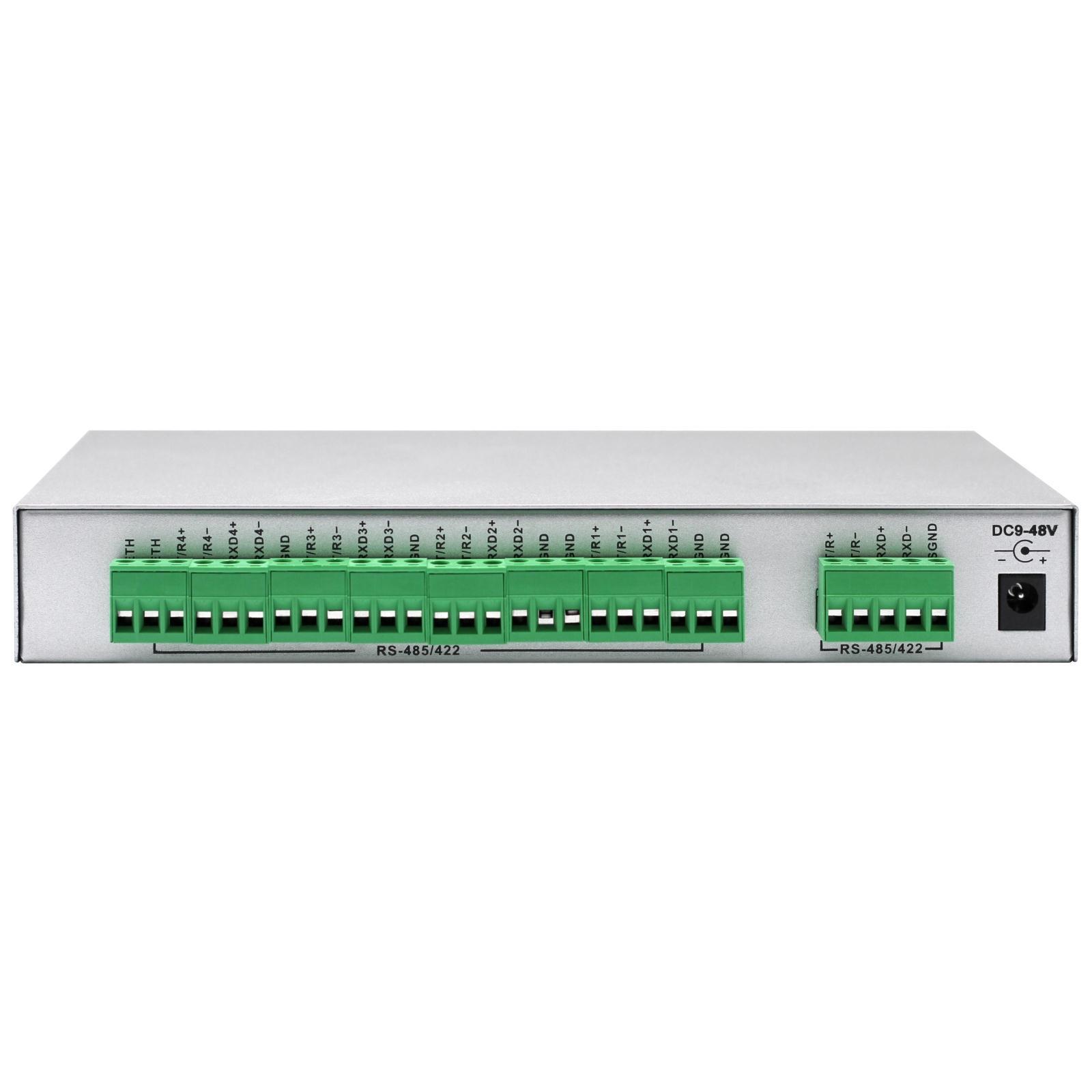 宇泰ut-1304 RS485集线器4路RS485/422智能分线器光电隔离485HUB