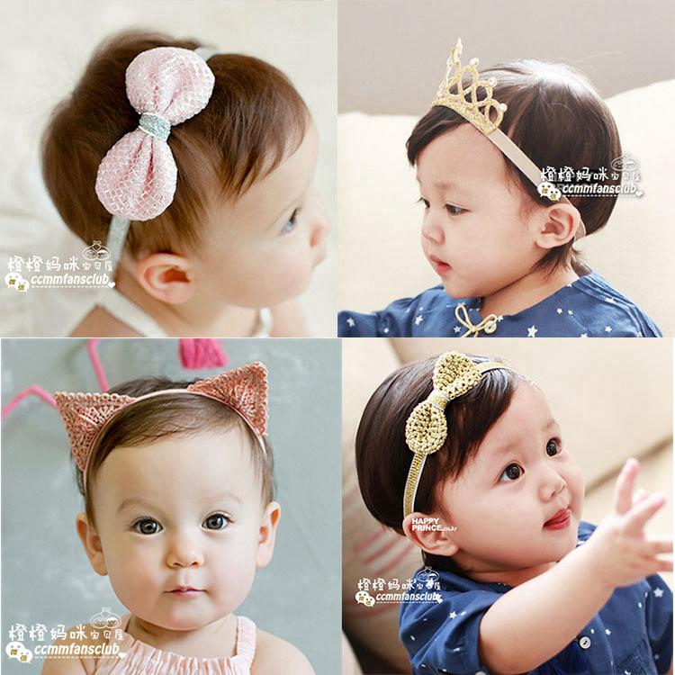 韓國小清新女寶寶嬰兒童皇冠髮帶髮箍頭花髮飾品百天滿月週歲拍照