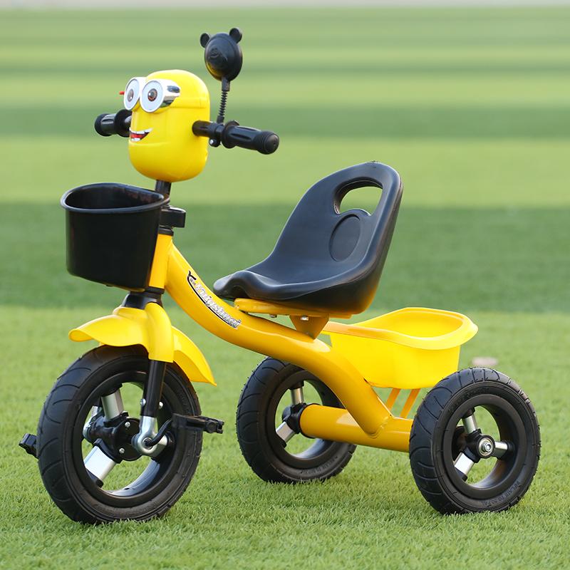 儿童三轮车脚踏手推车1-3-2-6岁小孩玩具带音乐宝宝脚蹬自行单车