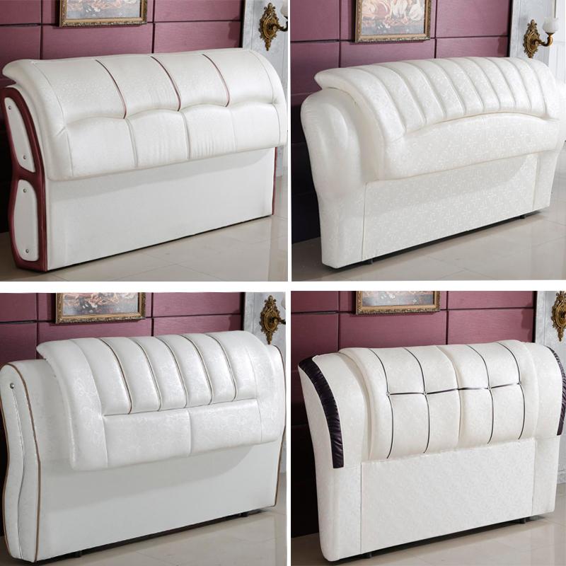 床頭軟包床頭板簡約現代歐式靠背板真皮床臥室雙人床婚床包郵