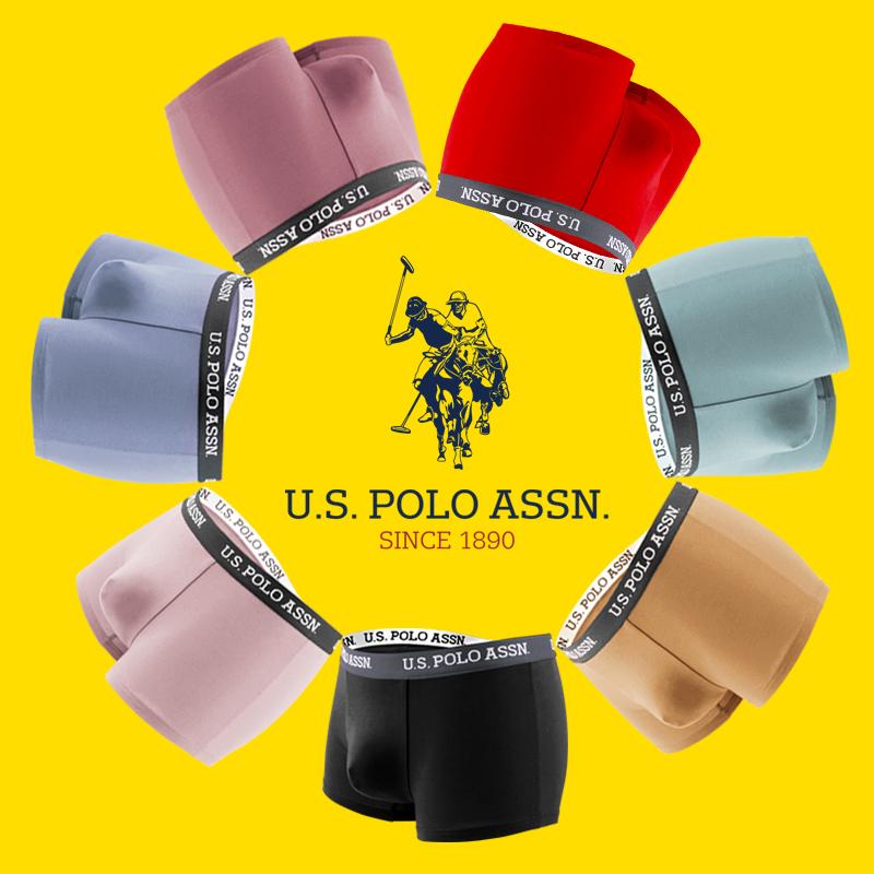新低!美国马球协会,40支阿克苏精梳棉:3条装 US POLO ASSN 男士 平角内裤
