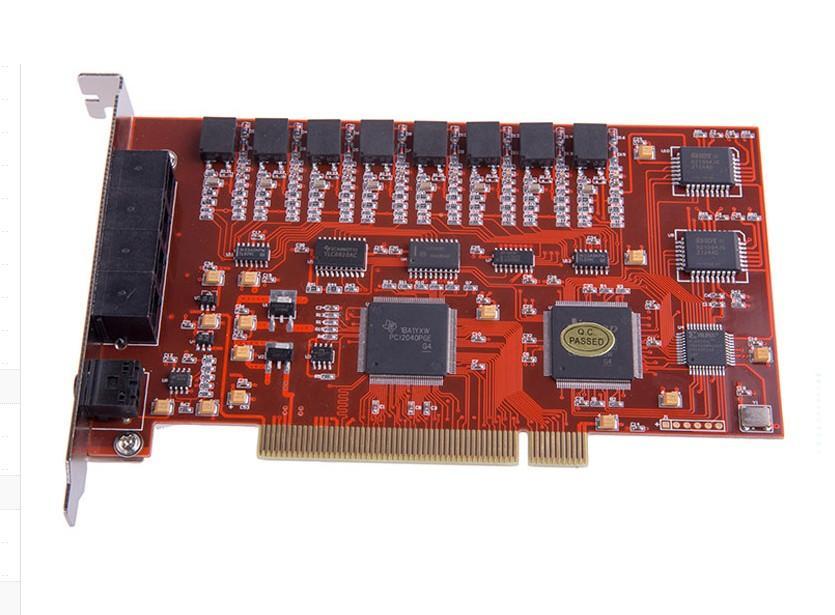 先锋8路电话录音卡XF-PCI/R8办公座机固话录音设备自动通话录音有线固定电话PCI云系统R16 YK8 YK16