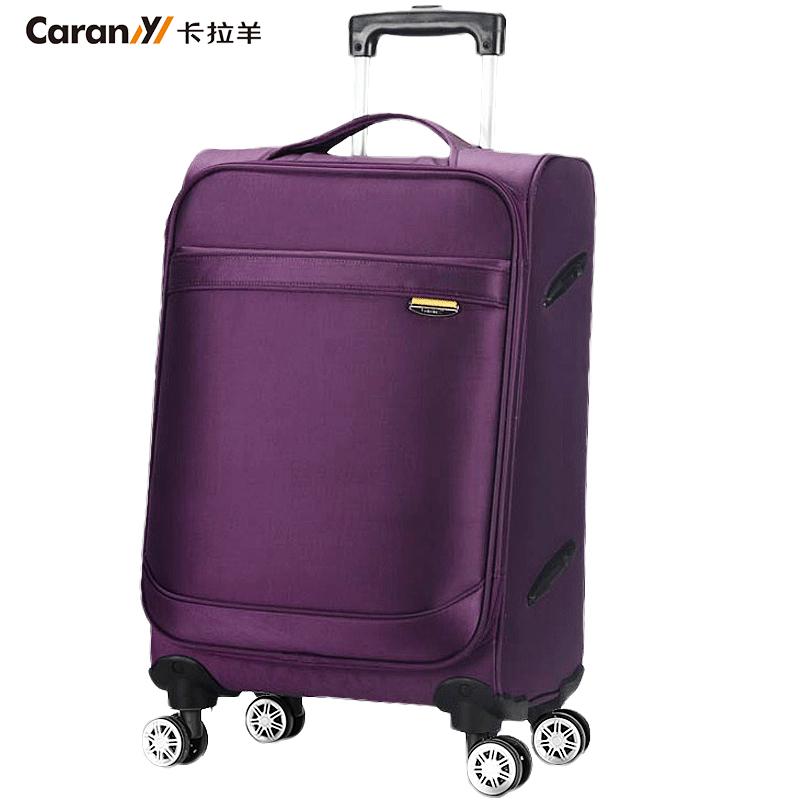 寸牛津布软箱子密码行李箱 28 24 20 卡拉羊拉杆箱女万向轮旅行箱男