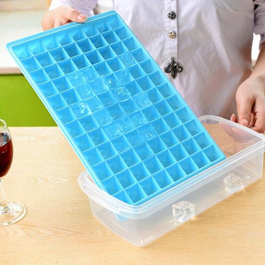 96格大鑽石冰格 冰塊模具製冰盒創意冰格模具方塊冰塊盒無蓋無毒