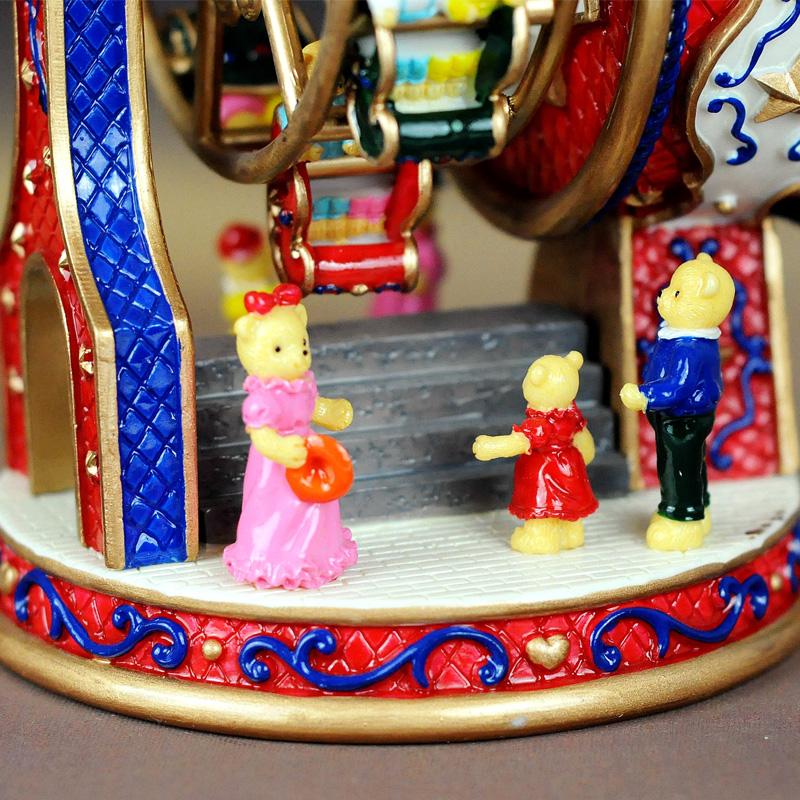八音盒创意新奇送老婆女生男生闺蜜同学 生日礼物摩天轮音乐盒
