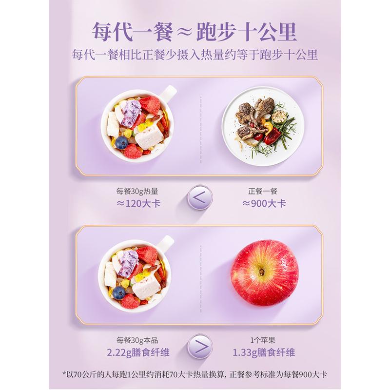 老金磨方酸奶果粒麦片即食营养早餐烘培代餐非膨化水果坚果燕麦片
