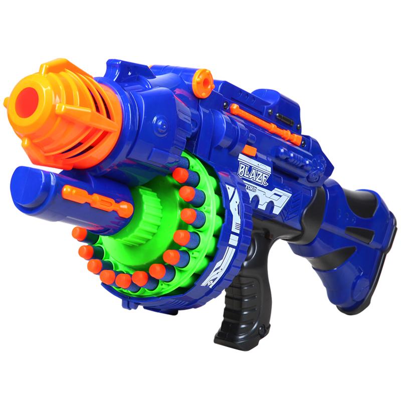 电动连发软弹枪儿童玩具枪狙击枪安全软子弹发射软蛋男孩玩具抢【图2】