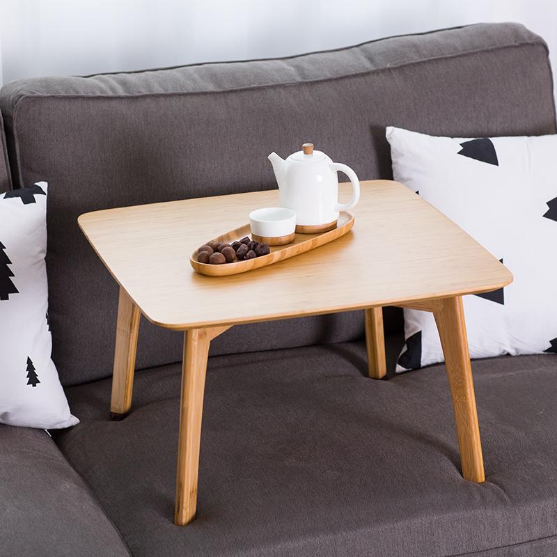 橙舍  竹实木茶几简约现代小茶几小户型客厅茶桌创意多功能飘窗几