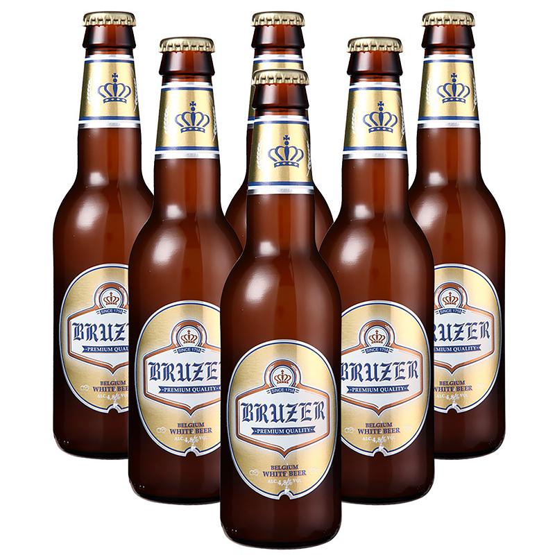 瓶组合装 6 瓶 330mL 巴利特小麦白啤酒 比利时原瓶进口