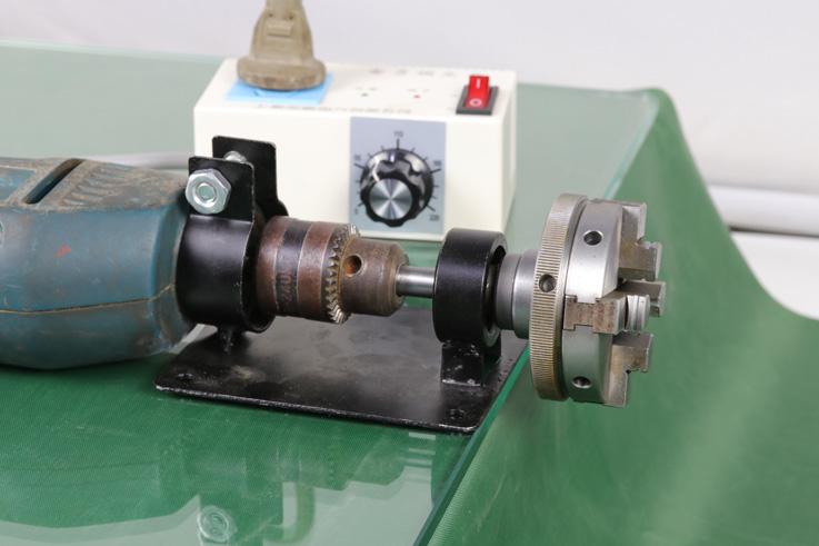 手镯电钻50 65木工车机床卡盘3/8螺纹连接转换轴杆套主轴梅花顶针