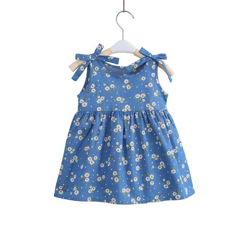 宝宝背带裙子夏季0-1岁婴儿吊带裙小童碎花裙纯棉女童公主连衣裙