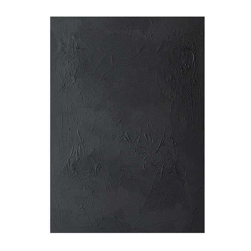 手繪抽象純色厚肌理油畫裝飾畫現代簡約客廳玄關走廊掛畫黑白壁畫