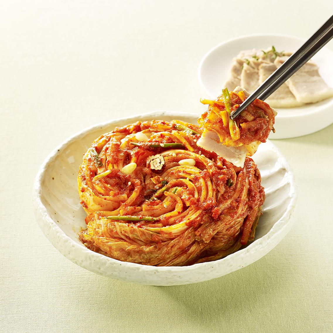 延边朝鲜族传统手艺正宗辣白菜泡菜韩国泡菜下饭泡菜风味500g包邮